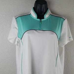 IZOD   Women's Active Golf Polo Sz L
